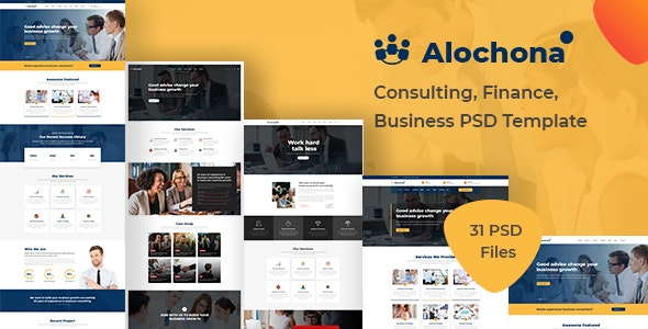 Alochona - Consulting, Finance, Business PSD Template - Business Corporate