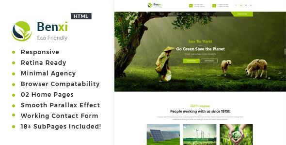 Benxi - Environment / Non-Profit HTML Template - Environmental Nonprofit