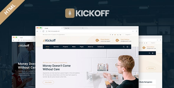 Kickoff - Startup Small Business Bootstrap4 Template - Corporate Site Templates