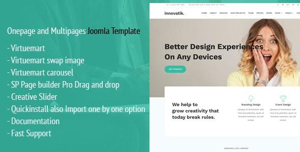 Innovatik - Corporate Joomla Template with Virtuemart - Joomla CMS Themes