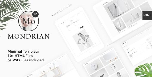 Mondrian VI - Minimal Template - Creative Site Templates
