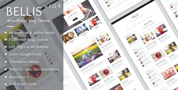 4d4546bcb9a8 Bellis - Simple and Clean WordPress Blog Theme - Personal Blog   Magazine