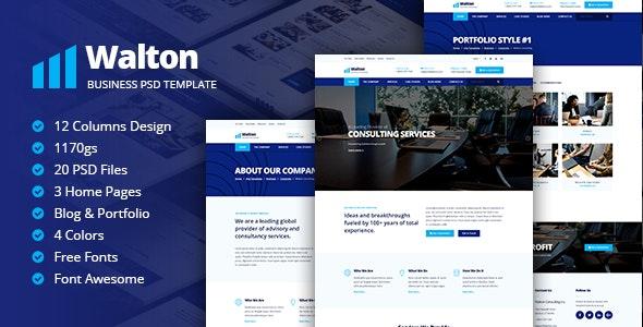 Walton Business & Corporate Template - Business Corporate
