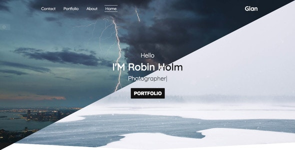 Glan - One Page Portfolio Bootstrap 4 - Portfolio Creative