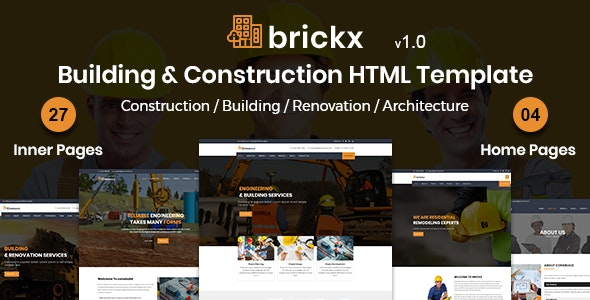 Brickx - Building & Construction HTML Template - Business Corporate