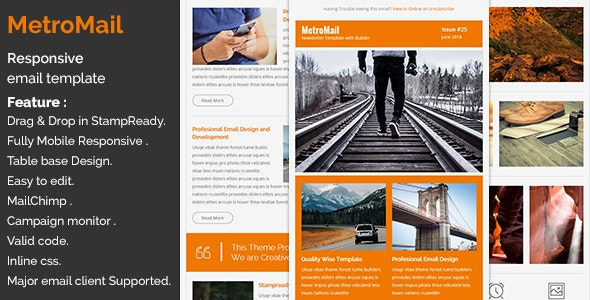 MetroMail - Responsive Email Template with Stampready Builder - Catalogs Email Templates