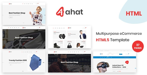 Aahat - Multipurpose eCommerce HTML5 Template - Shopping Retail