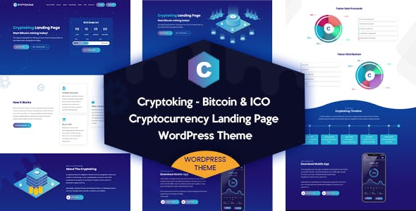 Cryptoking - Bitcoin & ICO Theme