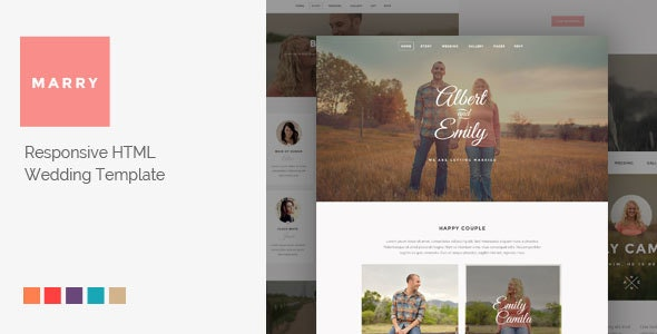 Marry - Responsive HTML Wedding Template - Wedding Site Templates