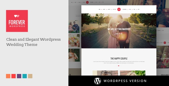 WP Forever - Responsive WordPress Wedding Theme - Wedding WordPress