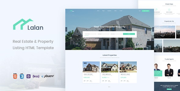 Lalan - Real Estate & Property Listing HTML Template - Business Corporate