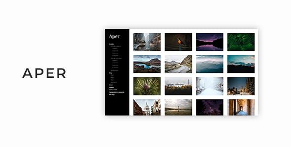 Aper - Responsive Creative Multi-purpose Portfolio Template