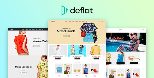 Deflat - Minimal eCommerce PSD Template - Shopping Retail