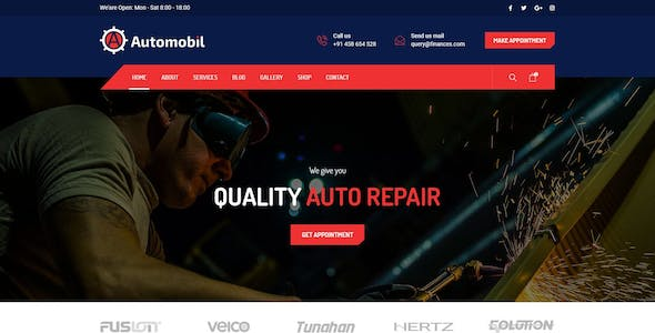 Automobil - Car Mechanic & Repair PSD Template