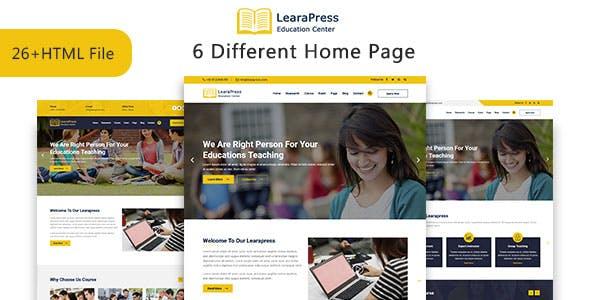 LearaPress - Education & Courses HTML5 Template
