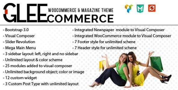 GleeCommerce - Multiconcept Woo and Magazine Theme - WooCommerce eCommerce