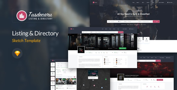 Tusdecaru - Places Directory Sketch Template - Travel Retail