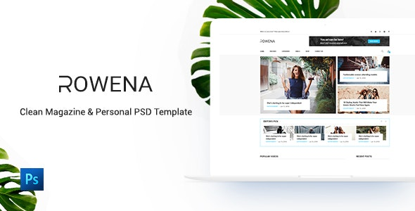 Rowena - Minimal Magazine PSD Template - Health & Beauty Retail