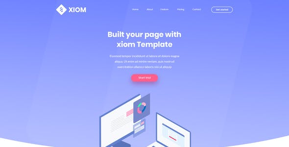 XIOM – SaaS, Software, WebApp and Startup Tech PSD Template