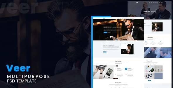 Veer – Multipurpose PSD Template - Photoshop UI Templates