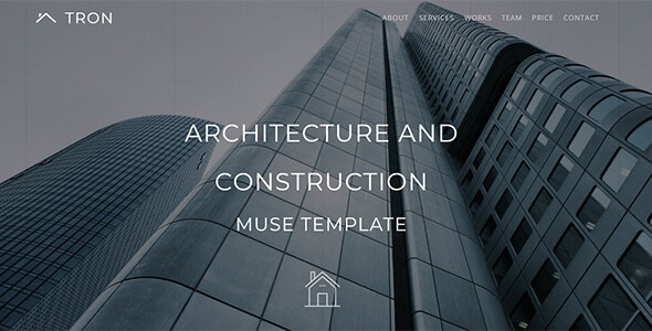 Tron_Architecture, Interior & Construction Muse Template - Corporate Muse Templates