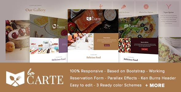 La Carte -  Restaurant / Food  HTML5 Template