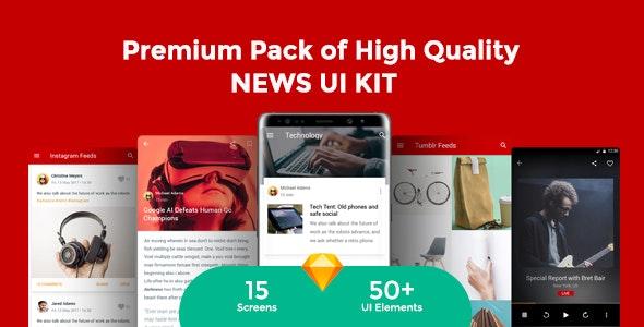 Newsmaker - News & Editorial UI KIT - Sketch UI Templates