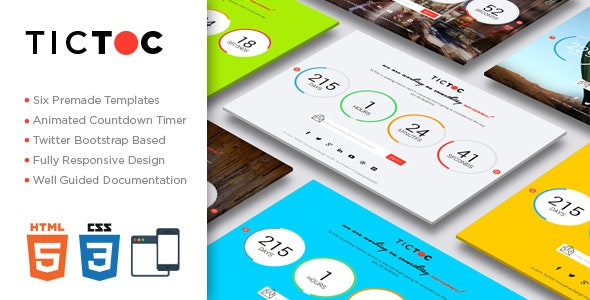 TICTOC - Coming Soon Countdown Template by creative_era
