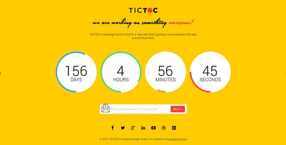 TICTOC - Coming Soon Countdown Template
