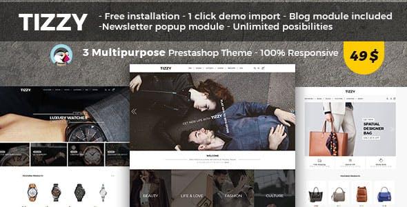 Tizzy - Multipurpose Responsive Prestashop 1.7 Theme   Fashion   Watch   Bag