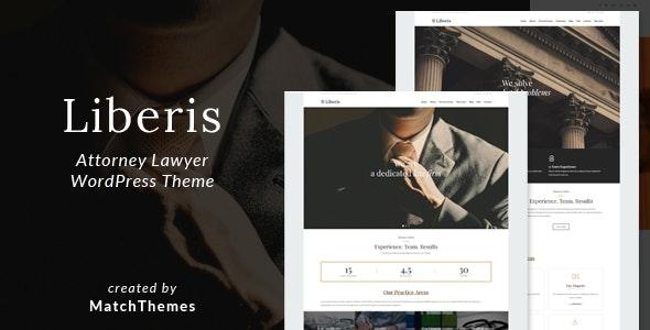Liberis - Attorney Lawyer WordPress Theme - Business Corporate