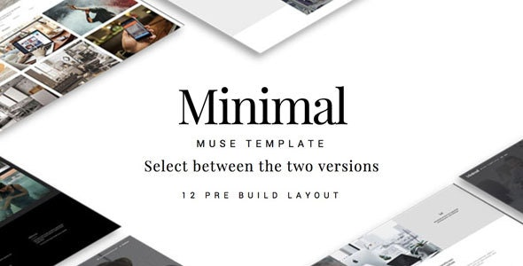 Minimal Muse Template - Corporate Muse Templates