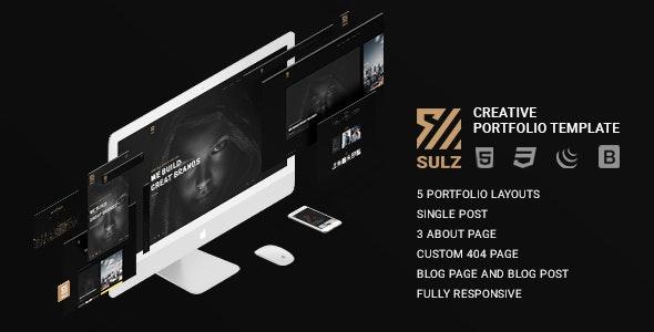 Sulz - Creative Portfolio Template - Portfolio Creative