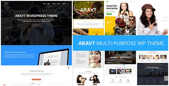 Aravt - Creative MultiPurpose Theme - Creative WordPress