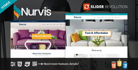 Nurvis - Furnitue Homestyle Bootstrap 4 Responsive HTML5 Template