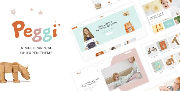 Peggi - Multipurpose Children Theme - Children Retail