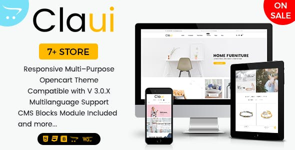 Claui - Responsive Opencart Themes for Shopping Cart Websites
