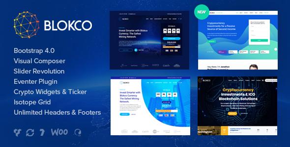 Blokco - ICO, Cryptocurrency & Consulting Business WordPress Theme - Technology WordPress