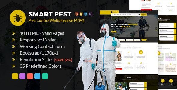 Smart Pest Control Multipurpose HTML Template - Business Corporate