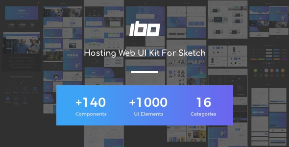 Ibo - Hosting Web UI Kit For Sketch by WHMCSdes | ThemeForest