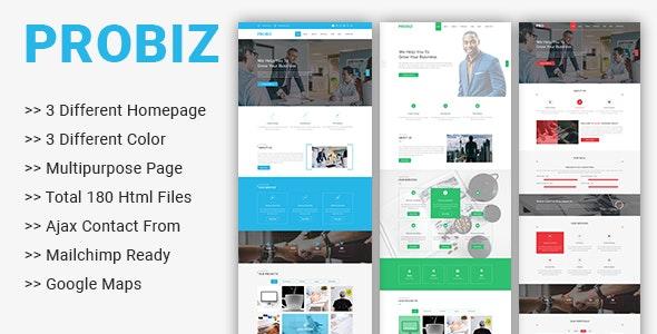 Probiz - Multipurpose Business Template - Business Corporate