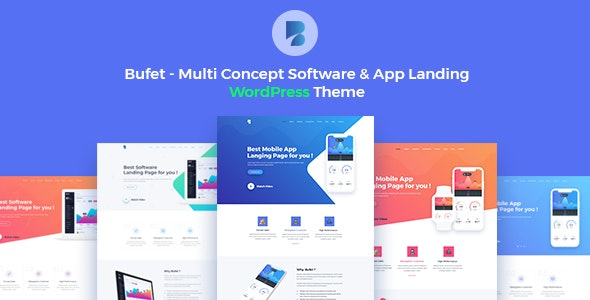 Bufet - Multi Concept Software & App Landing WordPress Theme + RTL - Software Technology