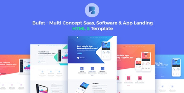 Bufet - Multi-Concept App, Saas and Software Landing Page - Software Technology