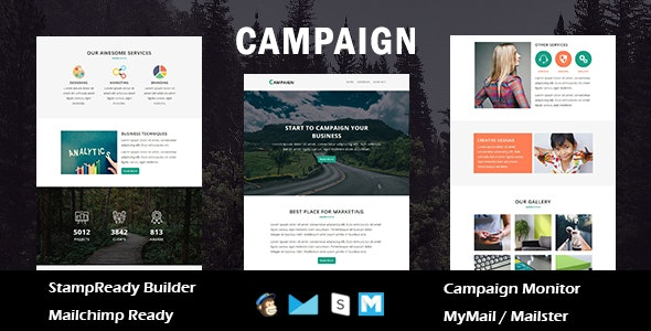 Campaign - Multipurpose Responsive Email Template with Stamp Ready Builder Access - Newsletters Email Templates