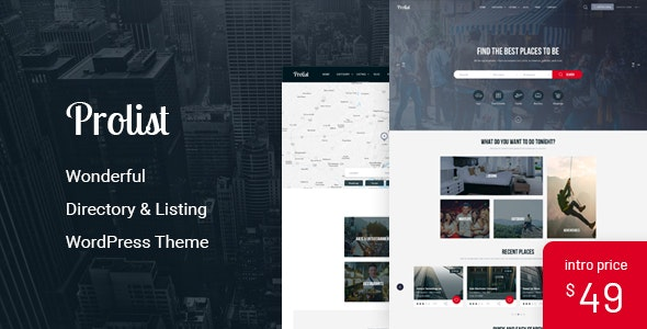 Prolist - Directory & Listing WordPress Theme - Directory & Listings Corporate
