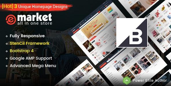 eMarket - Multipurpose StenCil BigCommerce Theme with Google AMP Ready - BigCommerce eCommerce