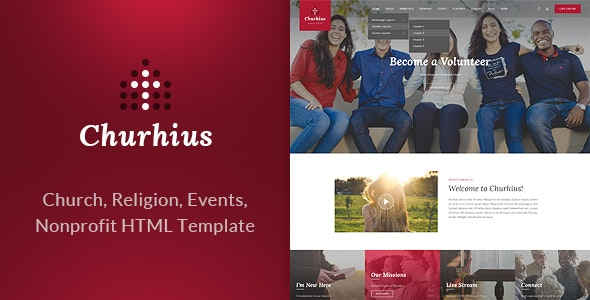 Churhius - Religion HTML Website Template - Churches Nonprofit