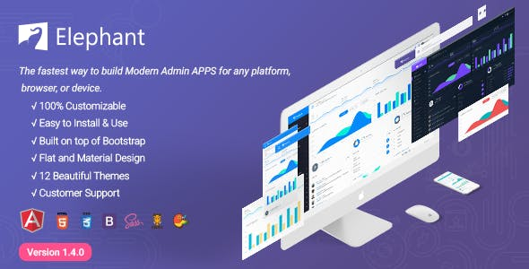 Elephant - Dashboard and Admin Site Responsive Template