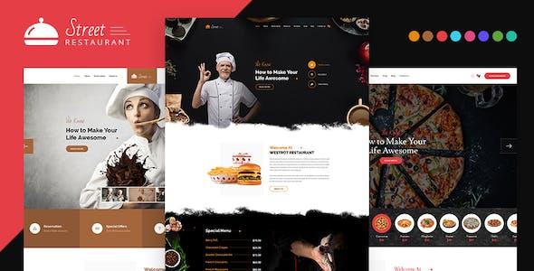 Street - Restaurant HTML Template