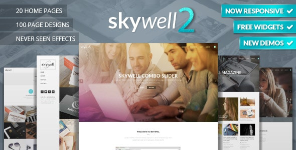 Skywell - MultiPurpose Adobe Muse Template by Skilltech